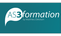 Logo AS3 Formation avec la M2thode AS3 Facile